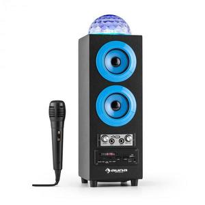 Auna Discostar albastruportabil 2.1 Bluetooth Speaker USB SD FM AUX LED Jelly Ball baterie portabila incl. Microfon imagine