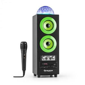 Auna Discostar verdeportabil 2.1 Bluetooth Speaker USB SD FM AUX LED Jelly Ball baterie portabila incl. Microfon imagine
