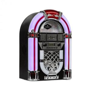 Auna Arizona, jukebox, BT, radio FM, USB, SD, MP3, CD player, negru imagine