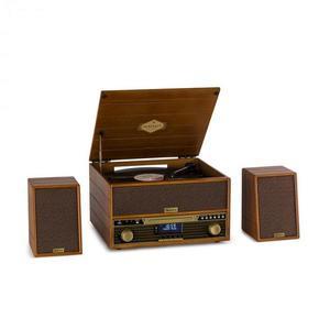 Auna Belle Epoque 1910, gramofon, difuzor stereo, turntable stereo, CD player imagine