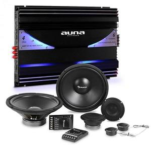 Auna CS Comp-12 difuzoare auto Hi-Fi set set | Amplificator 6 canale 570W RMS imagine