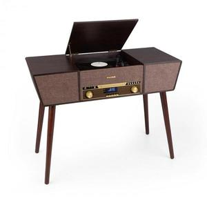 Auna Belle Epoque 1912, gramofon retro, CD, BT, USB, DAB+/FM, maro imagine