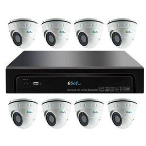 Kit Supraveghere Video Esol EN208-8(D)20, NVR 8 canale + 8 Camere Video imagine