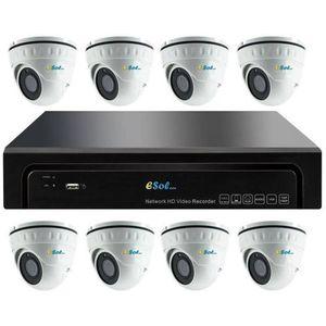 Kit Supraveghere Video Esol EN208/N-8(D)20, NVR 8 canale + 8 Camere Video imagine