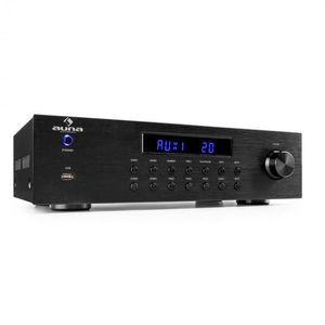 Auna AV2-CD850BT, amplificator stereo pe 4 zone, 8 x 50 W RMS, bluetooth, USB, CD,  negru imagine