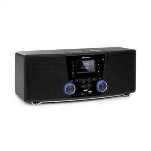 Auna Stockton, sistem stereo micro, max. 20W, DAB +, UKW, CD player, BT, OLED, negru imagine
