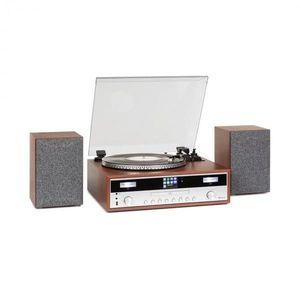 Auna Birmingham, sistem stereo HiFi, DAB +/FM, funcție BT, plăci de vinil, CD, USB, intrare AUX, lemn imagine