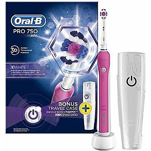 Periuta electrica Oral B PRO 750 3D White Pink Edition 80286813 (Alb/Roz) imagine