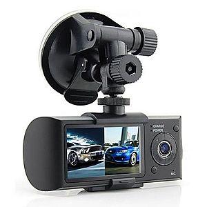 Camera Video Auto SW R300 Dual-Cam cu GPS Logger imagine