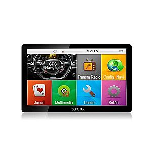 "GPS Auto/Camion Navigatie Techstar® 7"""" cu Touchscreen Premium 8GB Windows CE 128 Ram imagine"