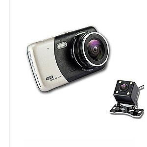 Camera Video Auto Dubla Techstar® T810 FullHD Cu Functia WDR si Ecran IPS 4inch imagine