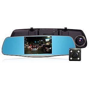 Oglinda Camera Video Auto L808 DVR FullHD Dubla cu Ecran 5 inchi Touch Screen si Unghi de 170° imagine