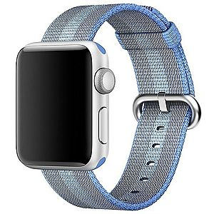 Curea pentru Apple Watch 38 mm iUni Woven Strap, Nylon, Blue imagine