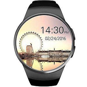 Smartwatch Telefon iUni KW18, Touchscreen, 1.3 Inch, HD, iOS si Android, Black imagine