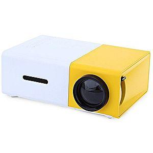 Videoproiector LED mini portabil YG300 400-600 LM 1080P Full Hd imagine