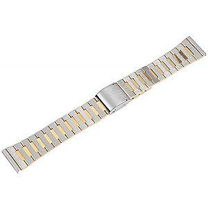 Bratara Ceas Otel Inoxidabil Bicolora Argintiu - Auriu 18mm 70010056 imagine