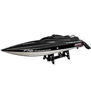 Barca cu telecomanda iUni FT011 High Speed Racing Flipped Boat, Negru imagine
