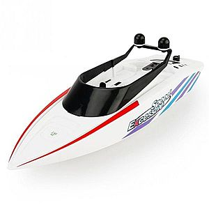Barca cu telecomanda iUni RC Racing Boat Waterproof, Frecventa 2.4G, Alb imagine