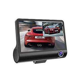 """Camera Video Auto Dubla FullHD cu Ecran Urias de 4"""""""" Z10 si Unghi de 170° imagine"""