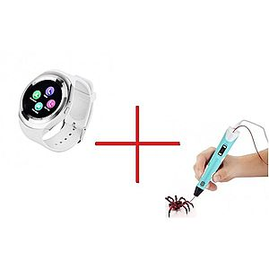 Set Promo Creion Stilou 3D + Smartwatch Y1 ALB imagine