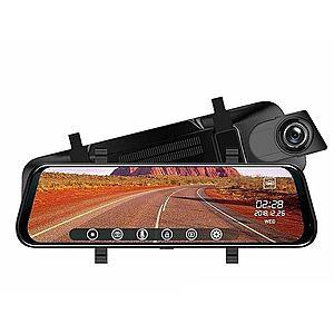 Camera Video Auto Premium Tip Oglinda T108 Dubla Full HD Ecran TouchScreen 10'' 12MP Unghi 170 Grade imagine