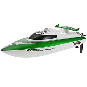 Barca cu telecomanda iUni FT009 Top Speed Racing Flipped Boat, Verde imagine