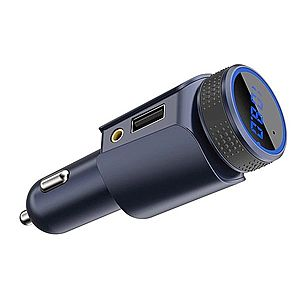 Modulator FM Auto T18 Hands-Free Car Kit Bluetooth MP3 Player Wireless Design Slim imagine