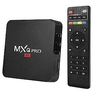 Mini PC Android 7 Media Player, TV Box MXQ PRO UltraHD 4K Quad-Core 64 Bit 1GB RAM, 8GB ROM Wireless, Ethernet imagine