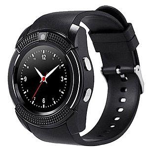 Ceas Smartwatch V8 Negru HandsFree Bluetooth 3.0 Micro SIM Android Camera 1.3MP imagine