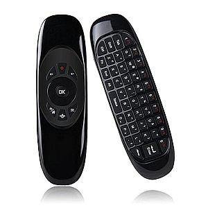 Tastatura QWERTY + Air Mouse + Telecomanda Mini Smart Kodi C2 2.4G, Gyroscop si IR PC, Smart TV, Android Box imagine