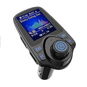 "Modulator Auto Transmitator FM Techstar® T11D Pro Bluetooth 4.0 AUX USB Display Color 1.8"""" MP3 Player Android iOS imagine"