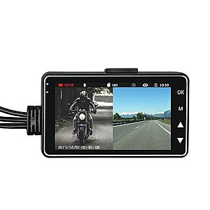 Camera Video Motocicleta Dubla Techstar® MT18 3MP HD 720P 50fps Display 3Inch imagine