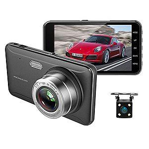 """Camera Video Auto DVR Dubla FullHD Techstar® A17 Unghi 170° Display 4"""""""", Senzori Miscare si Night Vision imagine"""
