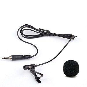 Microfon Mini Universal Lavalier Portabil cu Jack 3.5mm pentru Conferinte, Studio, PC, Android, IoS imagine