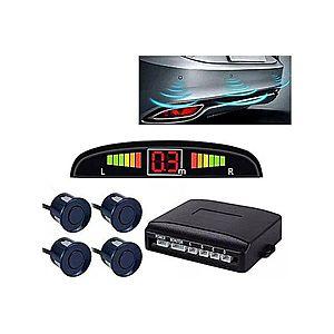 Set Senzori Parcare Auto Detector Parktronic Display Radar Monitor 4 Senzori Albastru Inchis imagine