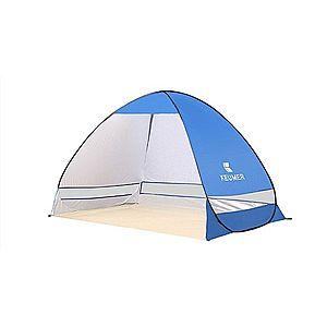 Cort Pentru Plaja Albastru Inchis Anti-UV Tip Pop-up pentru 2 Persoane Marime 200x120x130cm imagine
