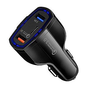 Incarcator Auto Turbo Fast 5V 3.5A QC3.0 DUAL USB pentru Smartphone Universal Negru imagine