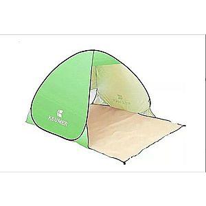 Cort Pentru Plaja Verde Deschis Anti-UV Tip Pop-up cu Deschidere in Spate Pentru 2 Persoane Marime 200x120x130cm imagine