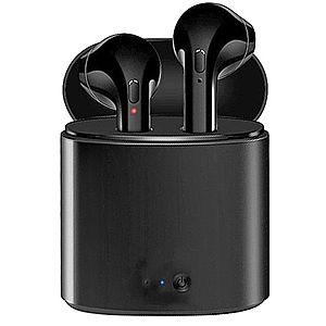 Casti Audio Wireless cu Bluetooth i7S Negru Tip in-ear pentru IOS si Android imagine