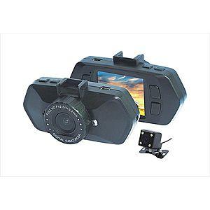 "Camera Video Auto Dubla, Obiectiv 120° Superangular FullHD 1080p Techstar® RLDV 204, Ecran 2"""", Parking Mode & Detectia Miscarii imagine"