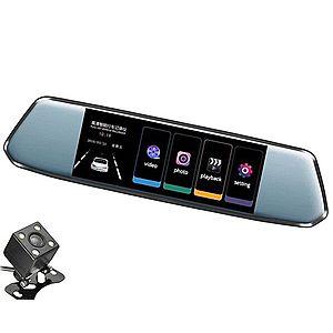 """Camera Video Auto Dubla tip Oglinda L809 DVR Techstar® 7"""""""" 5MP 170 Grade FullHD 1080P, TouchScreen imagine"""