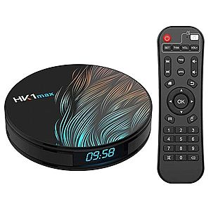 TV Box HK1 Max RK3318 2.4GHz Android 9.0 KODI 18.0, 4GB RAM si 32GB ROM, UltraHD 4K, Mini PC cu BT 4.0, WiFi imagine