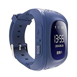 Ceas Smartwatch pentru Copii Albastru Inchis Q50 Slot Cartela SIM, GPS Tracker, Buton Urgenta SOS, Monitorizare Live imagine