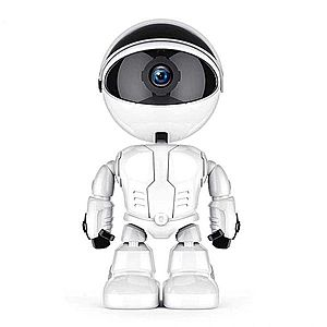 Camera IP Robot Techstar® Fredi Cloud, Home Security, Robot Smart, Auto Tracking, Dual Audio, Aplicatie P2P imagine