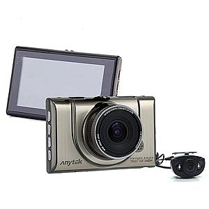 Camera auto DVR iUni Dash 100H, Dual Cam, Full HD, WDR, 170 grade, by Anytek imagine