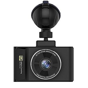 "Camera Video Auto DVR Techstar® H3 Pro Ultra HD 4K, Procesor 96660, Display 3"""" IPS, GPS Logger, WiFi Android & iOS imagine"