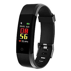 "Bratara Smart Fitness Techstar® ID115 Plus Fitness, 0, 95"""" OLED, BT4.0, Waterproof IP65, Negru imagine"
