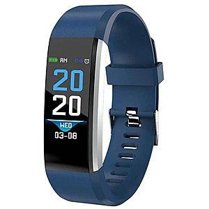"Bratara Smart Fitness Techstar® ID115 Plus Fitness, 0, 95"""" OLED, BT4.0, Waterproof IP65, Albastru imagine"