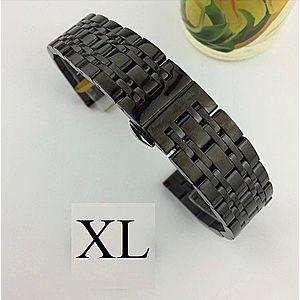 Bratara de ceas neagra din otel inoxidabil - 20mm 22mm - WZ3425 imagine