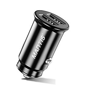 Incarcator Auto Techstar® Dual USB 5V 4.8A Fast Charging Compact imagine